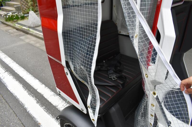 電動トライクラヴィータ,後部座席