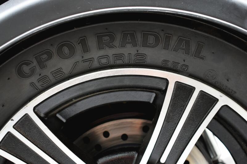 電動トライクラヴィータ後輪,タイヤサイズ
